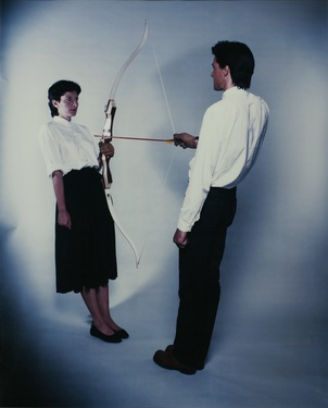 Abramovic  marina en ulay  rest energy  1981 photo m hka