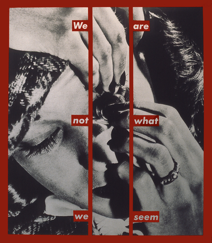 Kruger barbara we are not what we seem 1988 foto sybls