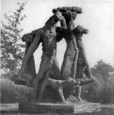 Ramkinkar baij  santhal family  public sculpture  1938