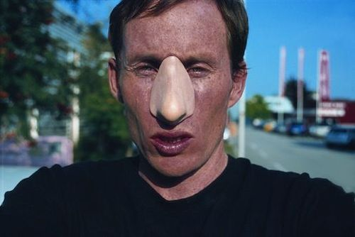 01.ringholt 2003 on wednesday he wore a plastic nose  performancejpg