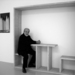 Michelangelo pistoletto with his work photo clinckx