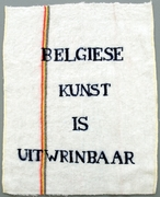 Fabre  jan  belgiese kunst is uitwringbaar  bic dweil  1978 2006  photo m hka clinckx