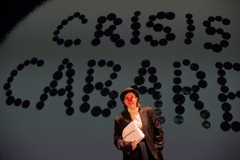 3.bonus the clown in the crisis cabaret at the barbican theatre  2013. photo by benedict johnson webversion