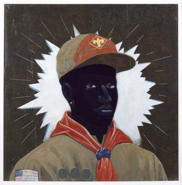 Kerry james marshall  scout %28boy%29  1995 collection museum of contemporary art chicago