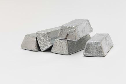 Two pound zinc bullion ingot bars