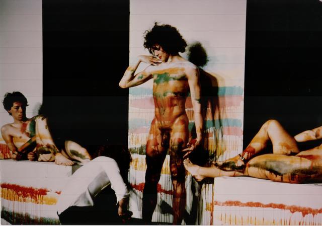1976 esthetisch ideaal performance zwarte zaal