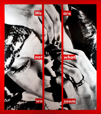 Barbara kruger  we are not what we seem  1988 photo m hkacc
