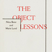 The object lessons