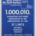 7. 1.000.010. geburtstag der kunst poster  aachen 1973