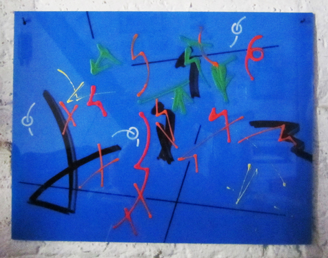 1980 1200 blauw abstract