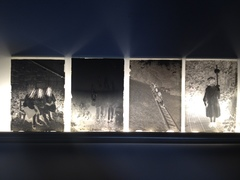 Christine clinckx  1943  2001 tl light  glass negatives  scratched out