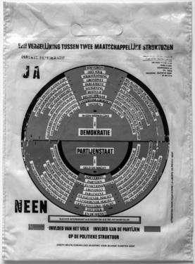 Joseph beuys  een vergelijking tussen twee maatschappelijke strukturen  1976  courtesy private collection  %c2%a9 sabam %28belgium%29  2017 bw