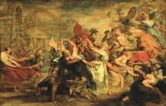 Rubens de roof van de sabijnse maagden