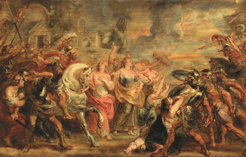 Rubens de verzoening tussen de romeinen en sabijnen