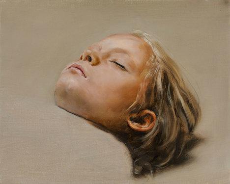 Micha%c3%abl borremans sleeper 2008 oil on canvas
