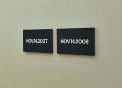 On kawara nov. 14  2008 and nov. 14  2008