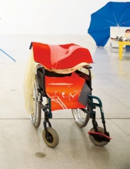 Isagenzken untitled wheelchair