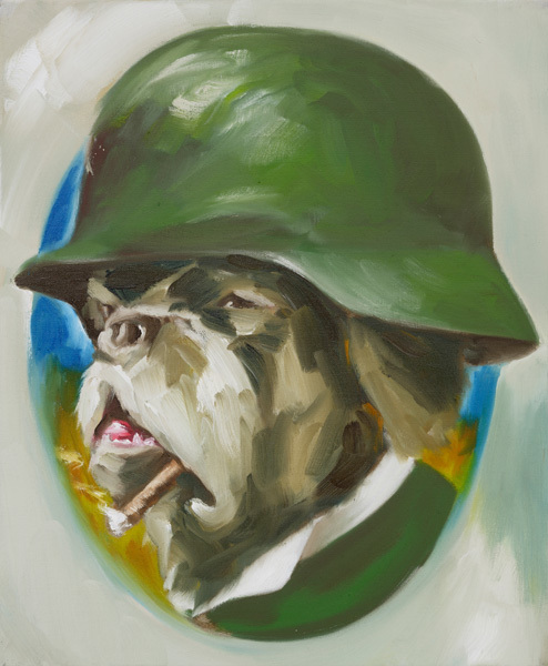 Gregory forstner opa  2007  huile sur lin  61x50 cm  collection michael zink  photo jens wagner