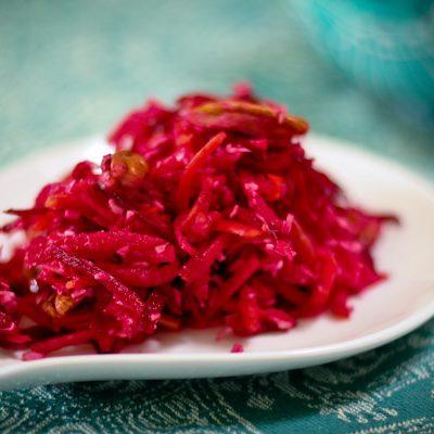 Raw beet salad