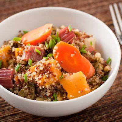 Roasted veggie-quinoa casserole