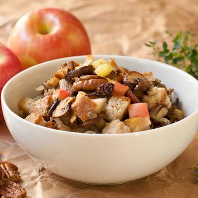 Gluten-free wild rice stuffing recipe with cornbread