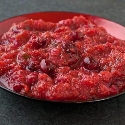 Cranberry-jalapeno-persimmon sauce