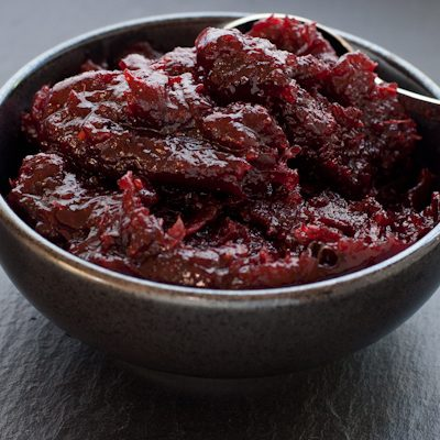 Cranberry chutney with Indian spices