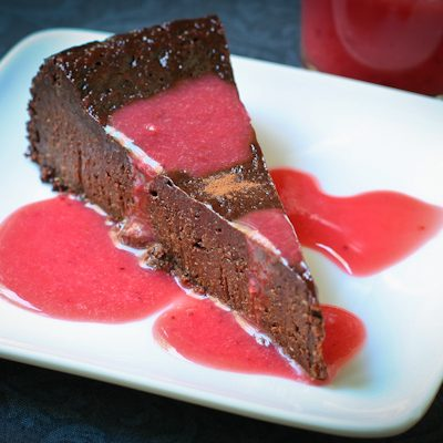 Flourless chocolate poppyseed cake