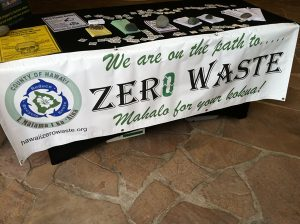 Zero Waste event sign