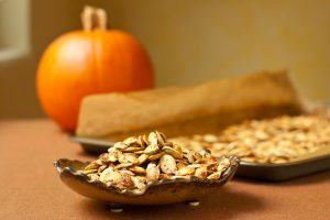 Spiced Roasted Pumpkin Seeds
