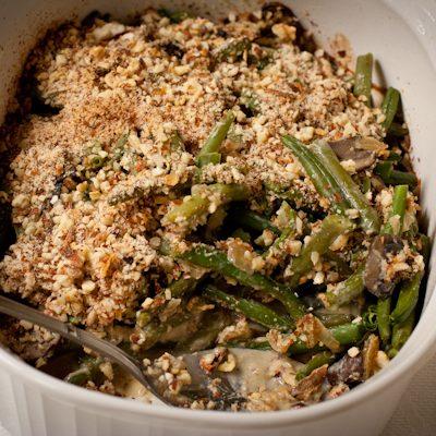 Healthy gluten-free green bean casserole