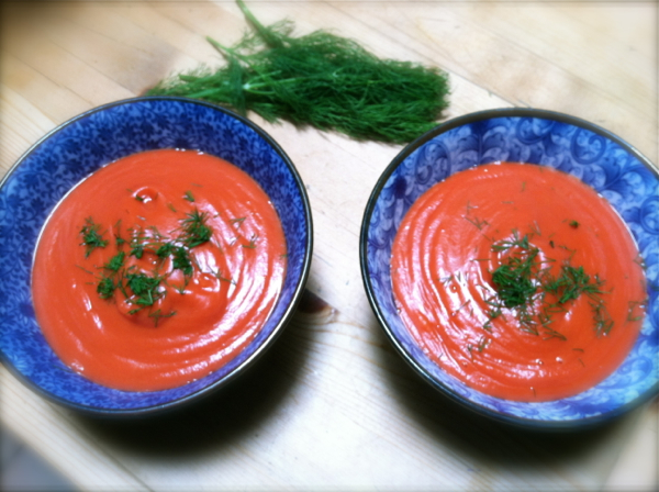 Beet soup with dill
