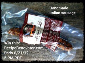 Dry Italian sausage giveaway