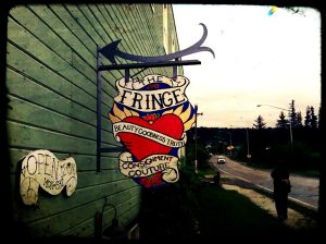 Sign for Fringe Consignment shop