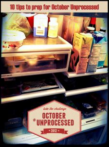 10 Tips to get ready for October Unprocessed