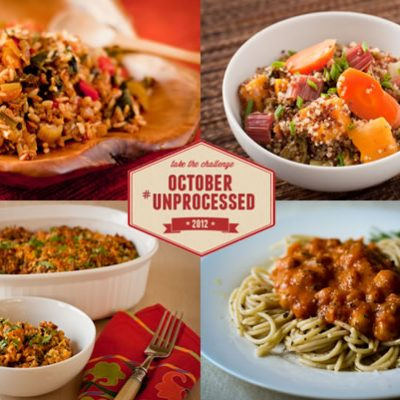 October Unprocessed Week 3: Dinner
