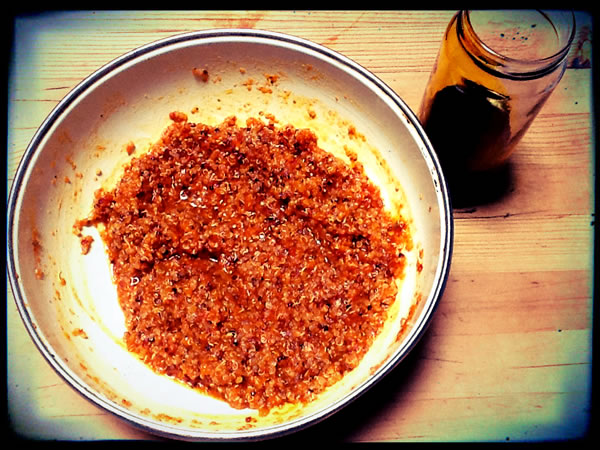 Uncooked vegan chorizo mixture