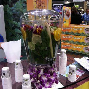Herb Thyme herbal lemonade drink at Fresh Summit October 2012