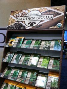 garden seeds display at Fresh Summit October 2012
