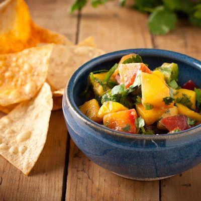 Mango-nectarine salsa