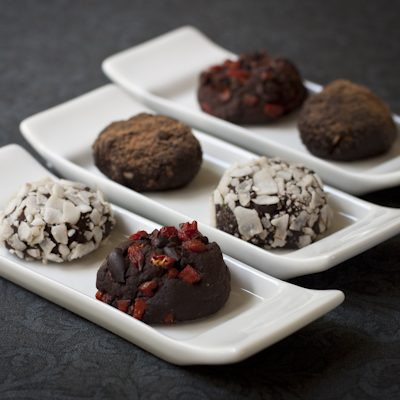 Chocolate truffles, four ways