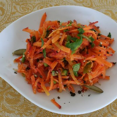 Raw carrot and orange salad
