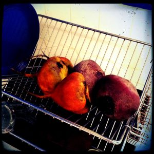 Beets Prepped and draining   Recipe Renovator