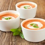 Chilled Tomato-Pepper-Basil Soup from Recipe Renovator | Raw, vegan, gluten-free