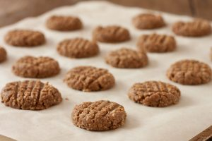Almond butter dog biscuits