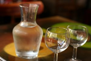Chilled water carafe in Paris