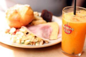 Fresh orange juice in Paris