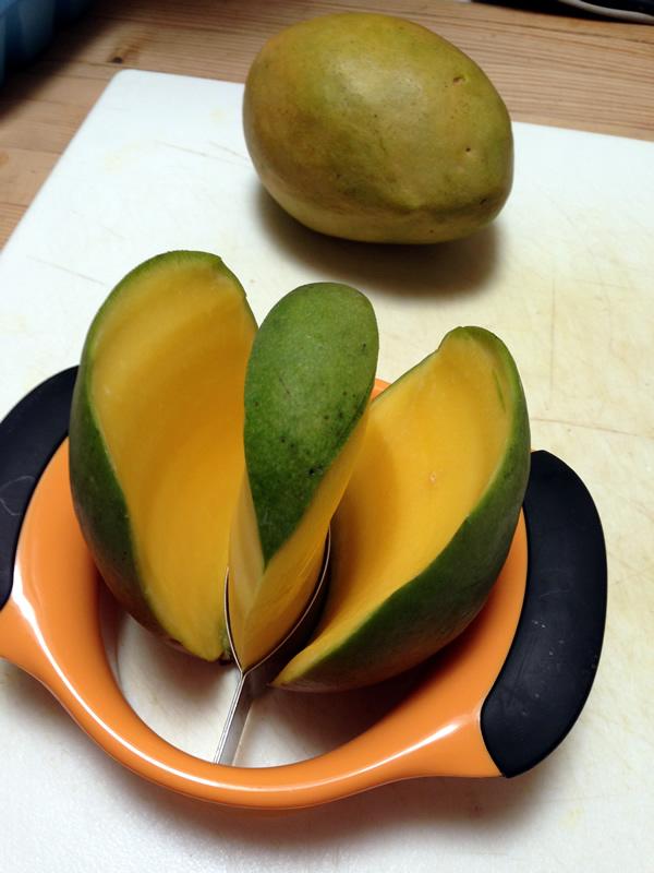 Oxo Mango slicer for Mango Salad