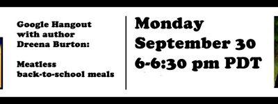 Meatless Monday live Hangout with Dreena Burton tonight!