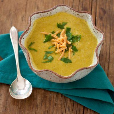 Broccoli-cheese soup {vegan}